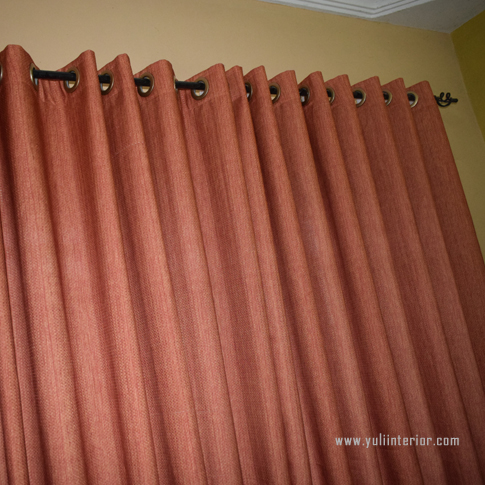 Orange Eyelet Curtains for Living Rooms, Bedrooms in Port Harcourt, Nigeria