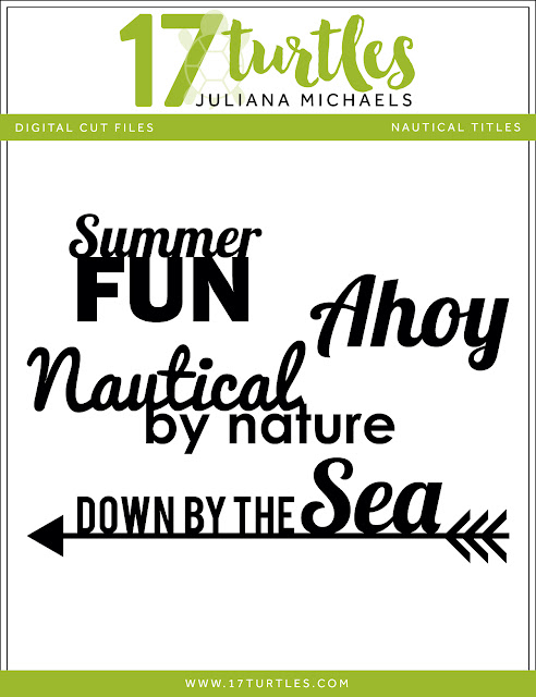 Nautical Titles Free Digital Cut File by Juliana Michaels 17turtles.com