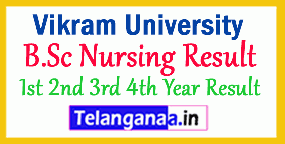 Vikram University B.Sc Nursing Result