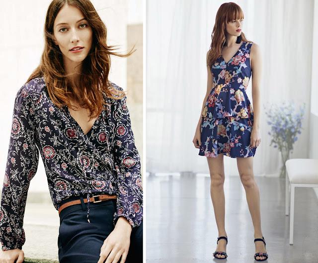 Блузка и платье с принтом