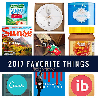 2017 Favorite Things List | bigpittstop.com