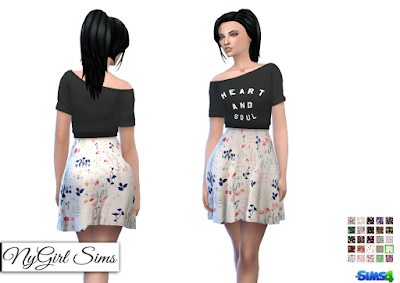 NyGirl Sims 4: Heart and Soul Floral Dress