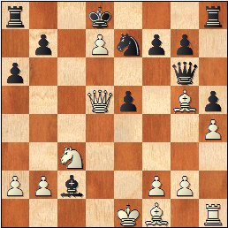 Partida de ajedrez Francino - García Sáinz, 1964Posición después de 17.Dd5!