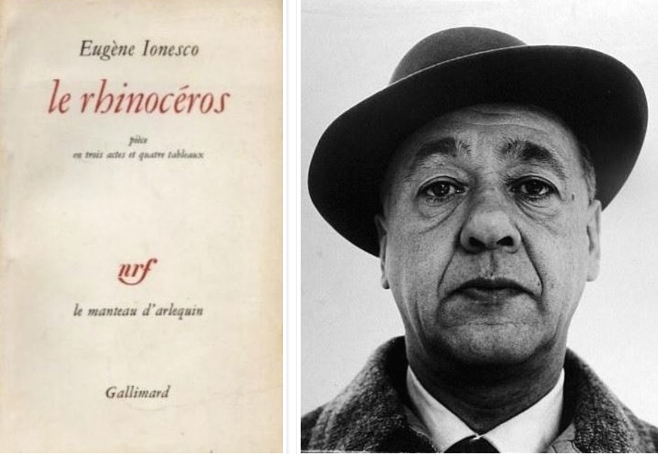 existentialism in eugene lonescos rhinoceros essay Rhinoceros is filled with animal grunts and snorts and panicky human frailty, showing us how it feels to have one's identity subsumed and traduced presumably the first royal court production was.