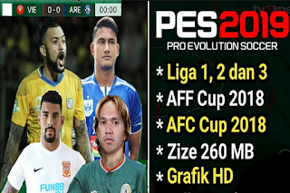 FTS Mod PES 2019 Full League Indonesia