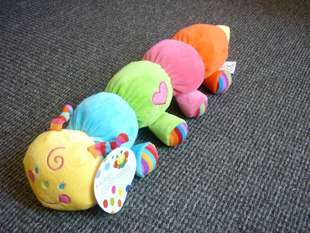 plush caterpillar rattle