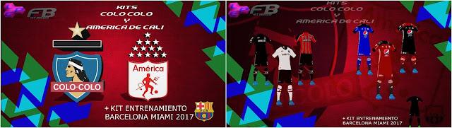 PES 2017 Colo Colo   America de Cali Kits + Barca Training 8439459ba