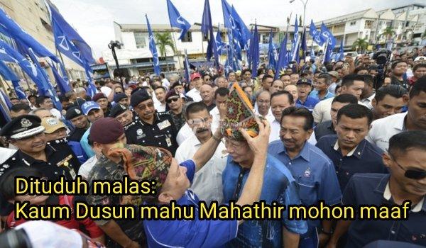 Dituduh malas, kaum Dusun mahu Mahathir mohon maaf