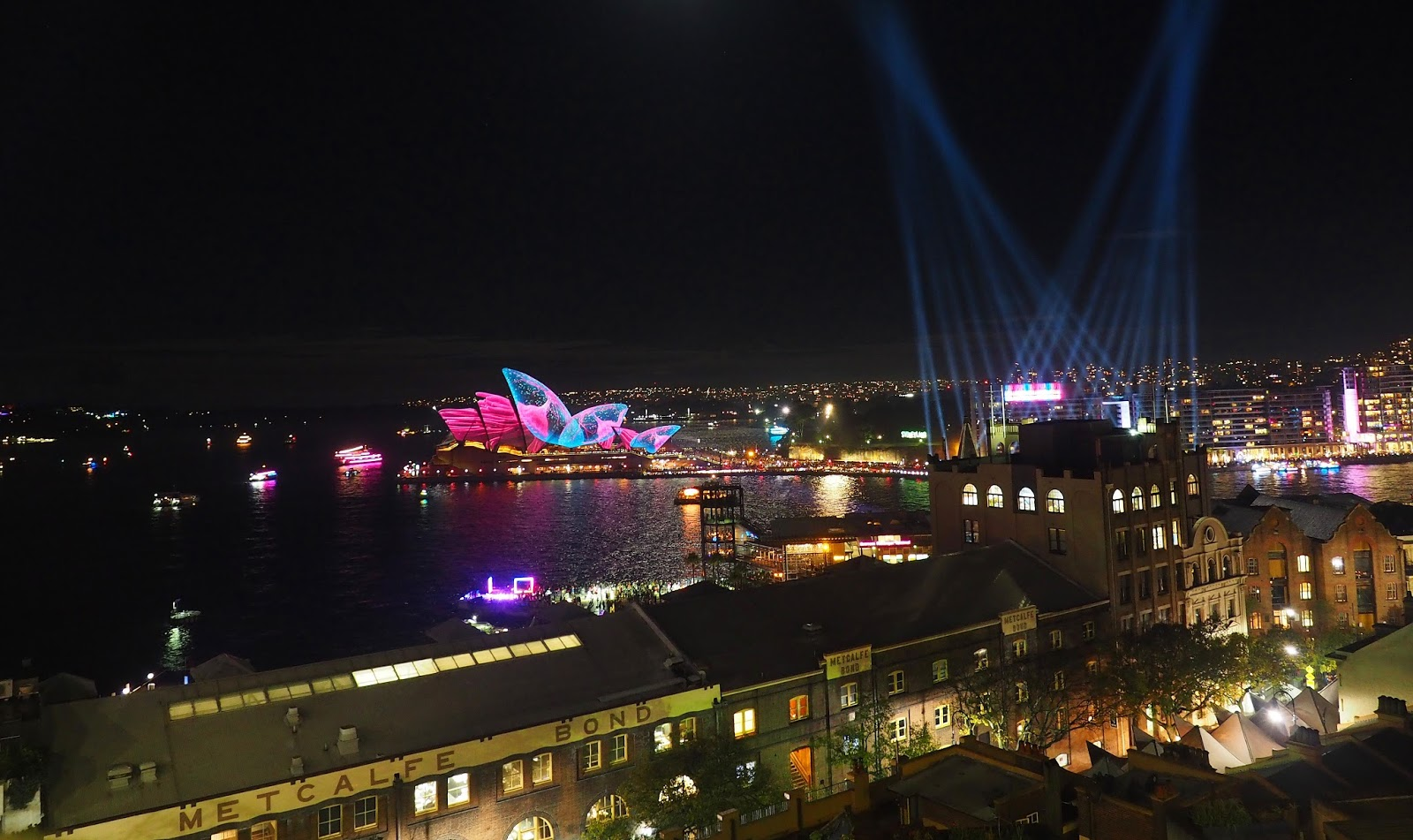 Vivid Sydney From Harbour Bridge