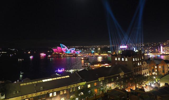 Vivid Festival Sydney Views from Sydney Harbour Bridge