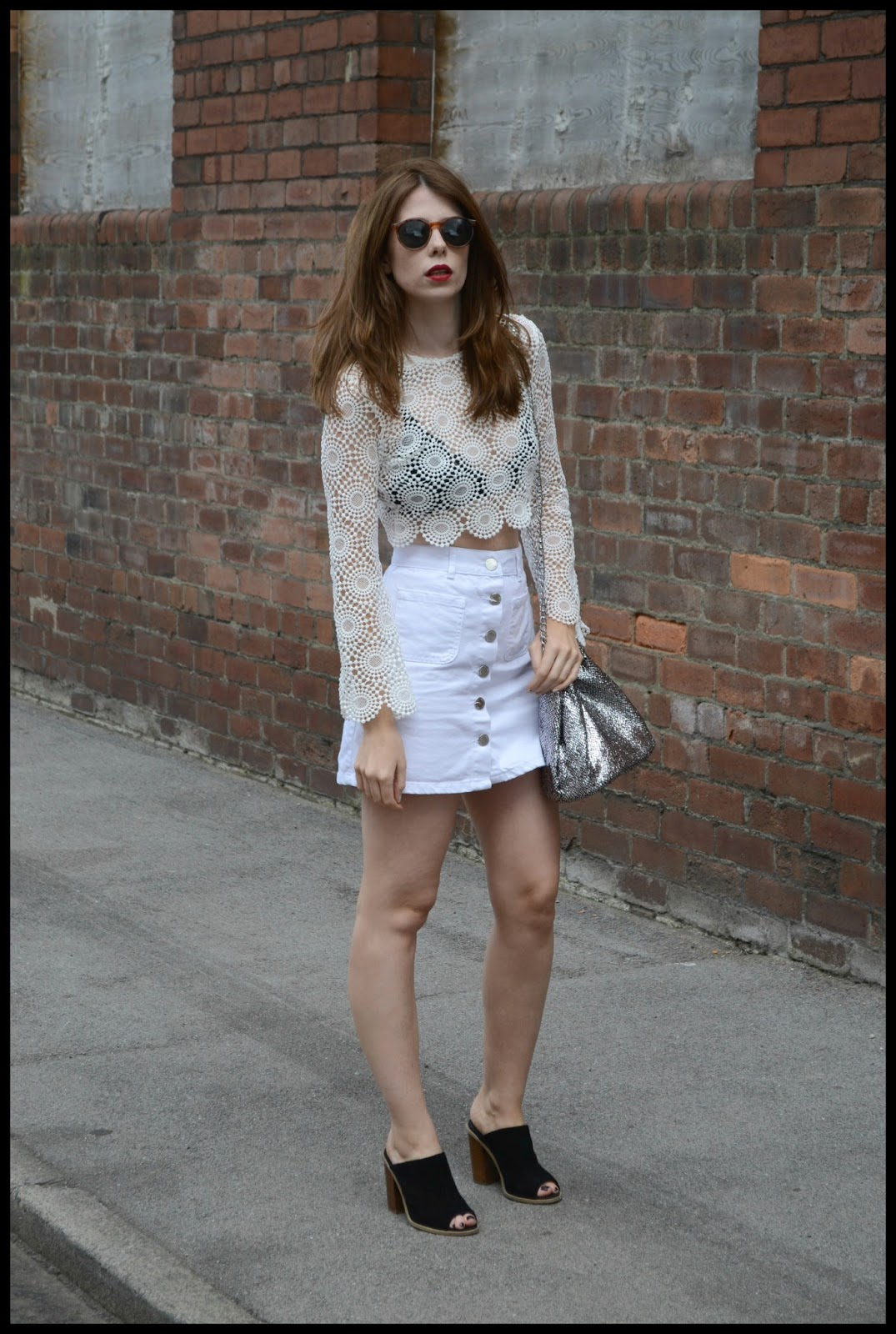 Crochet top white cropped top from Boohoo.com