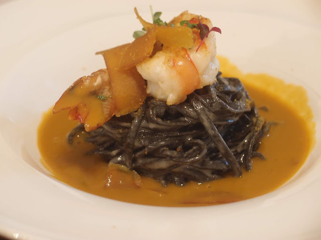 Hand-made squid ink tagliolini