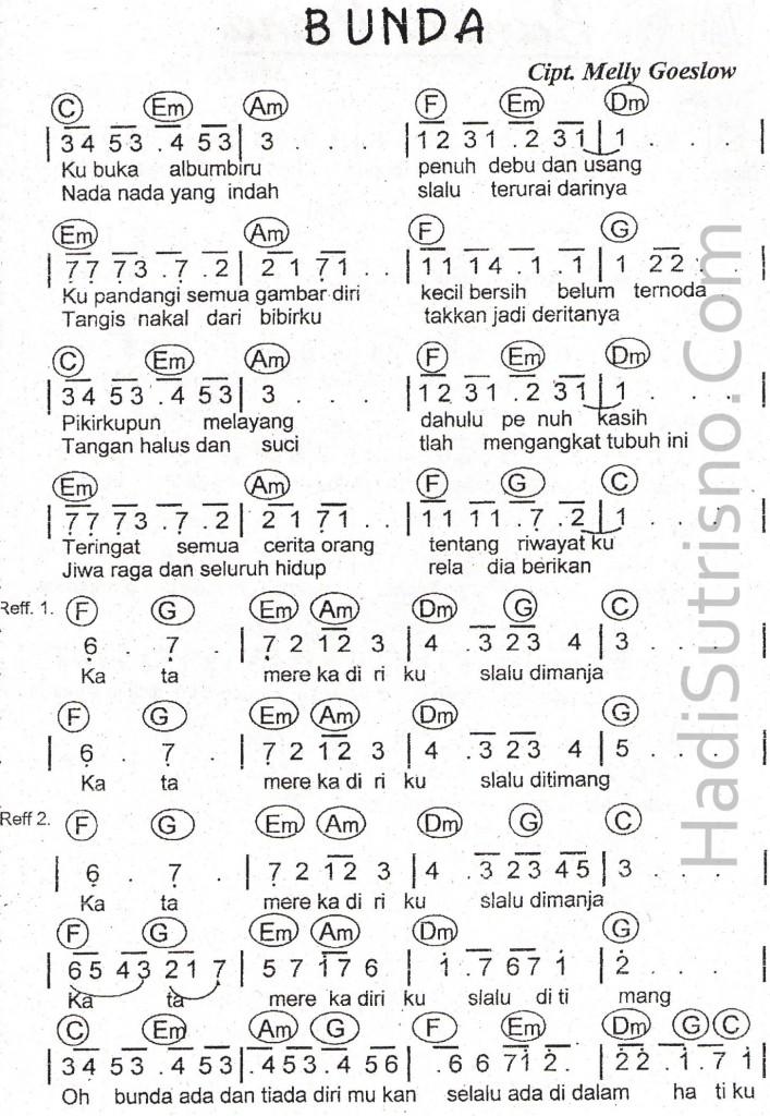 koleksi partitur lagu  DEWARAN99A