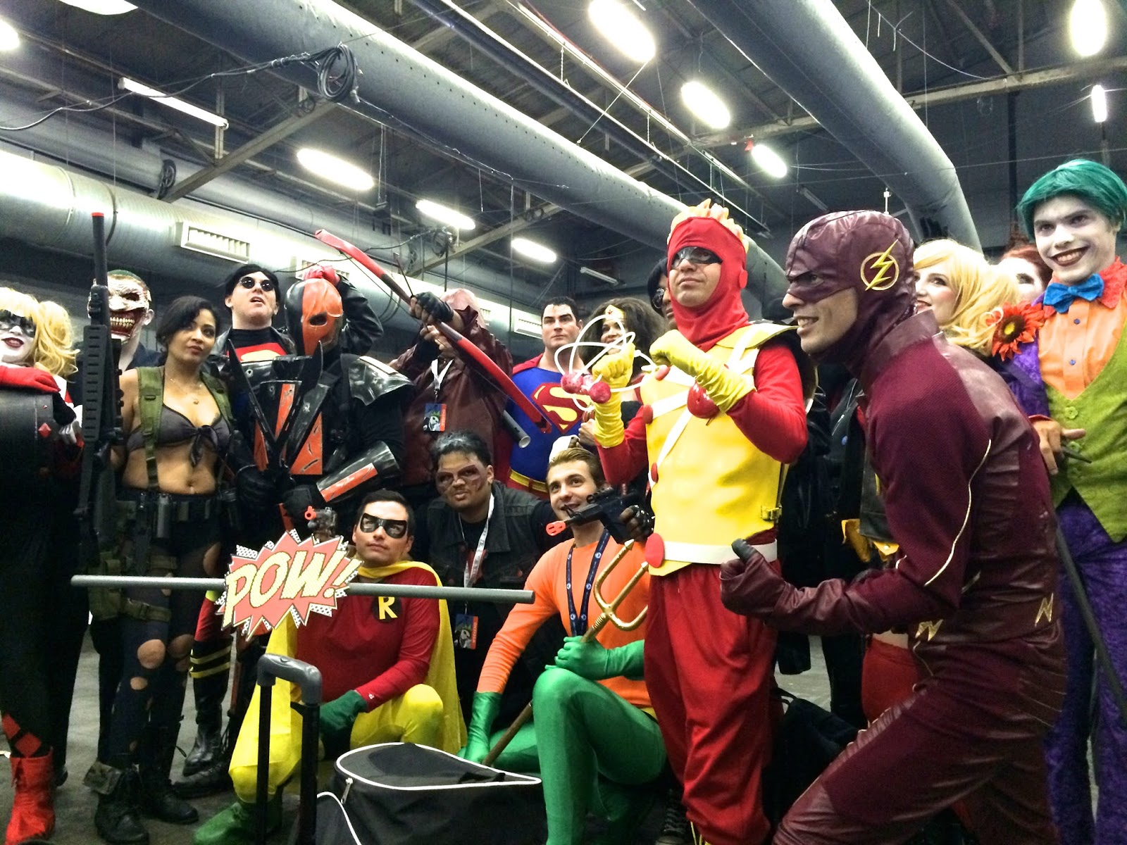 group cosplay Special Edition NYC DC Comics heroes