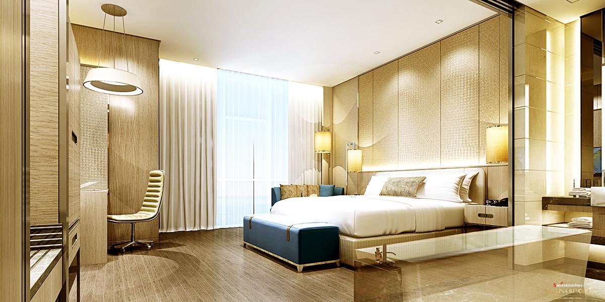 Phòng ngủ căn hộ La Luna Nha Trang