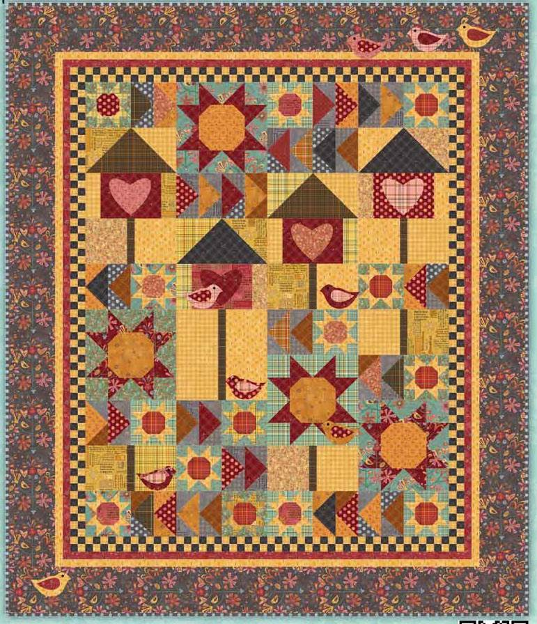 Free Quilt Patterns Of Houses : Quilt Inspiration: Free pattern day ! Bird houses
