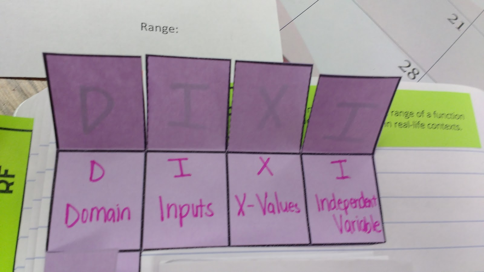 Math Love Domain And Range Interactive Notebook Pages