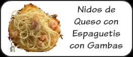 Nidos de queso con espguetis