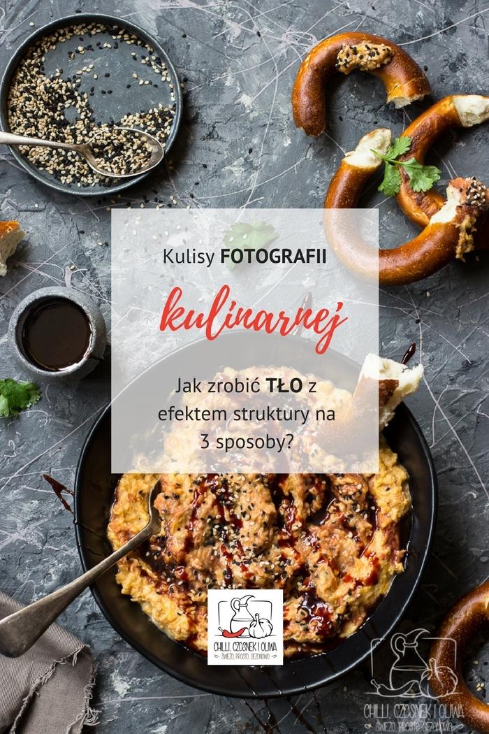 DIY - tło strukturalne do fotografii kulinarnej na 3 sposoby