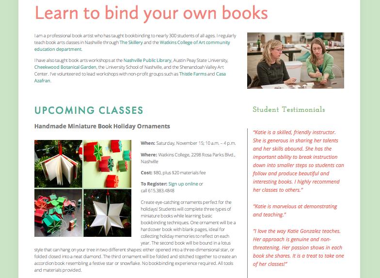 linenlaidfelt bookbinding classes