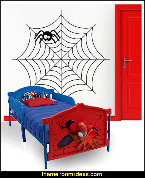 Children Plastic 3D-Footboard Twin Bed, Marvel Spider-Man