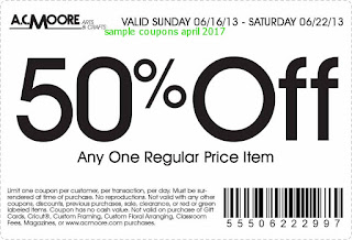 free AC Moore coupons for april 2017