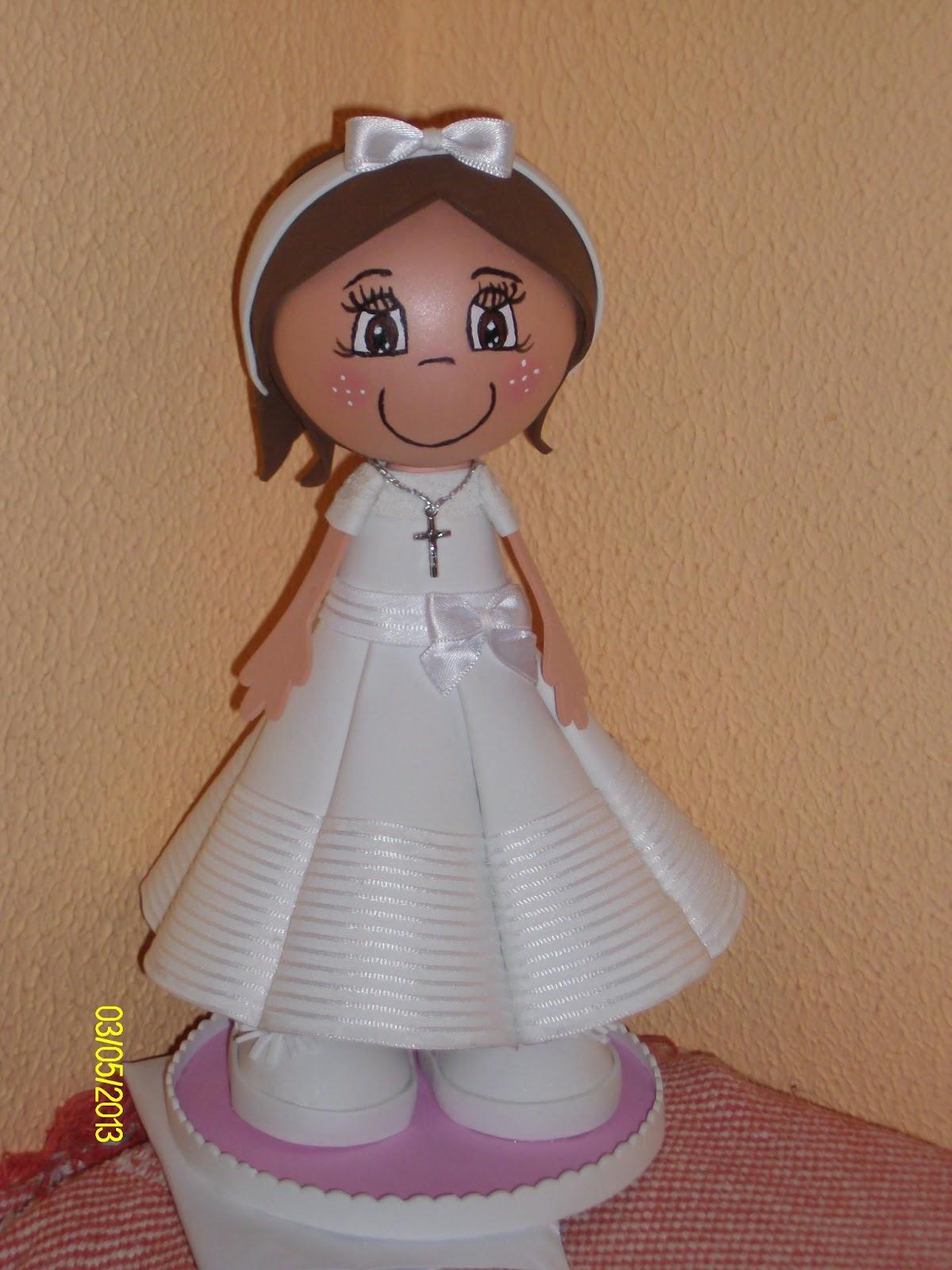 0fd4e1afa88 lasmanualidadesdeito1  Mi Fofucha de Primera Comunión María