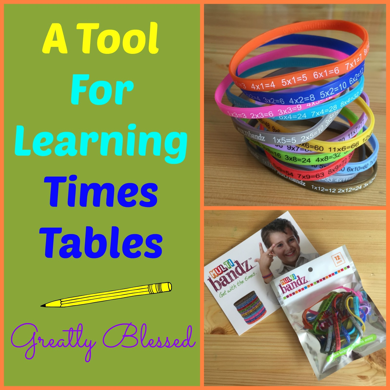 Greatly Blessed A Tool For Learning Times Tables