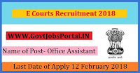 E Courts Recruitment 2018 – 77 Senior Bailiff, Office Assistant