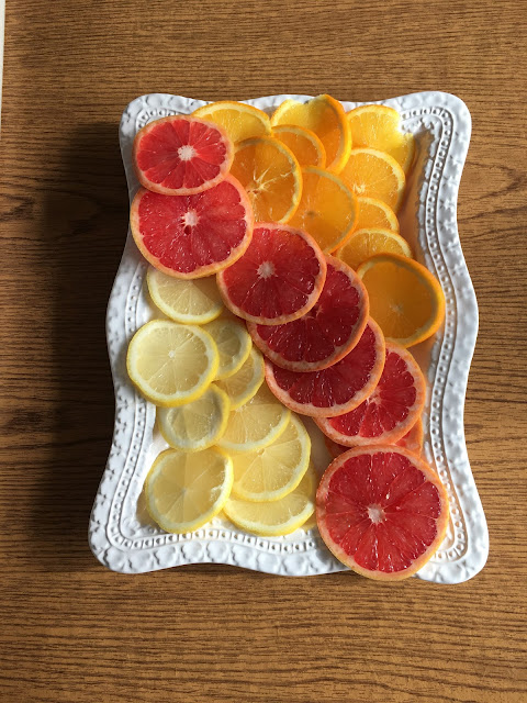 citrus fruit diy christmas garland