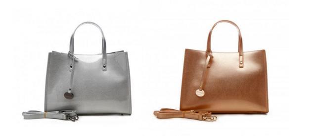 bolsos en tonos metalizados