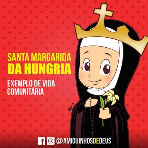Santa Margarida da Hungria desenho