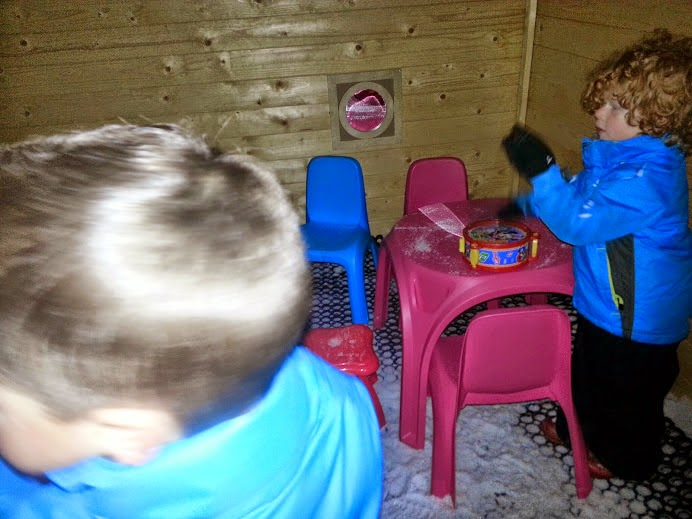 Chill Factore Manchester Snow Play inside Mini Moose Cottage