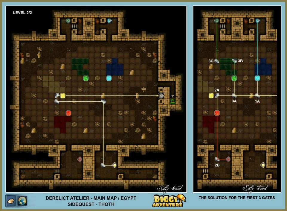 Diggy's Adventure Walkthrough: Egypt Main / Derelict Atelier Level 2