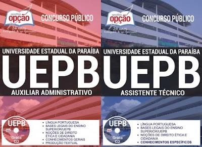 Apostila do Concurso UEPB2017 - Auxiliar Administrativo - Grátis testes (PDF)