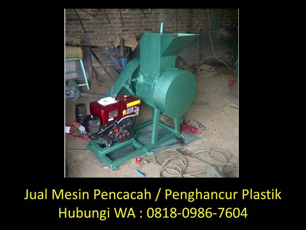 pengertian mesin pencacah plastik di bandung