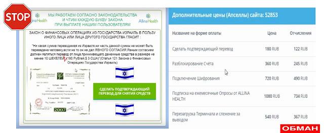 Дополнительные цены к сайту allina-izrael.site