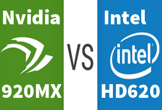 Intel HD 620 Vs 920MX