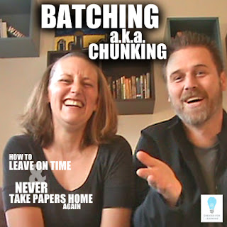 The 9th installment in our series: How to Leave on Time and NEVER Take Papers Home Again ... In which we show you how breaking your tasks up into similar batches will save you tons of time.
