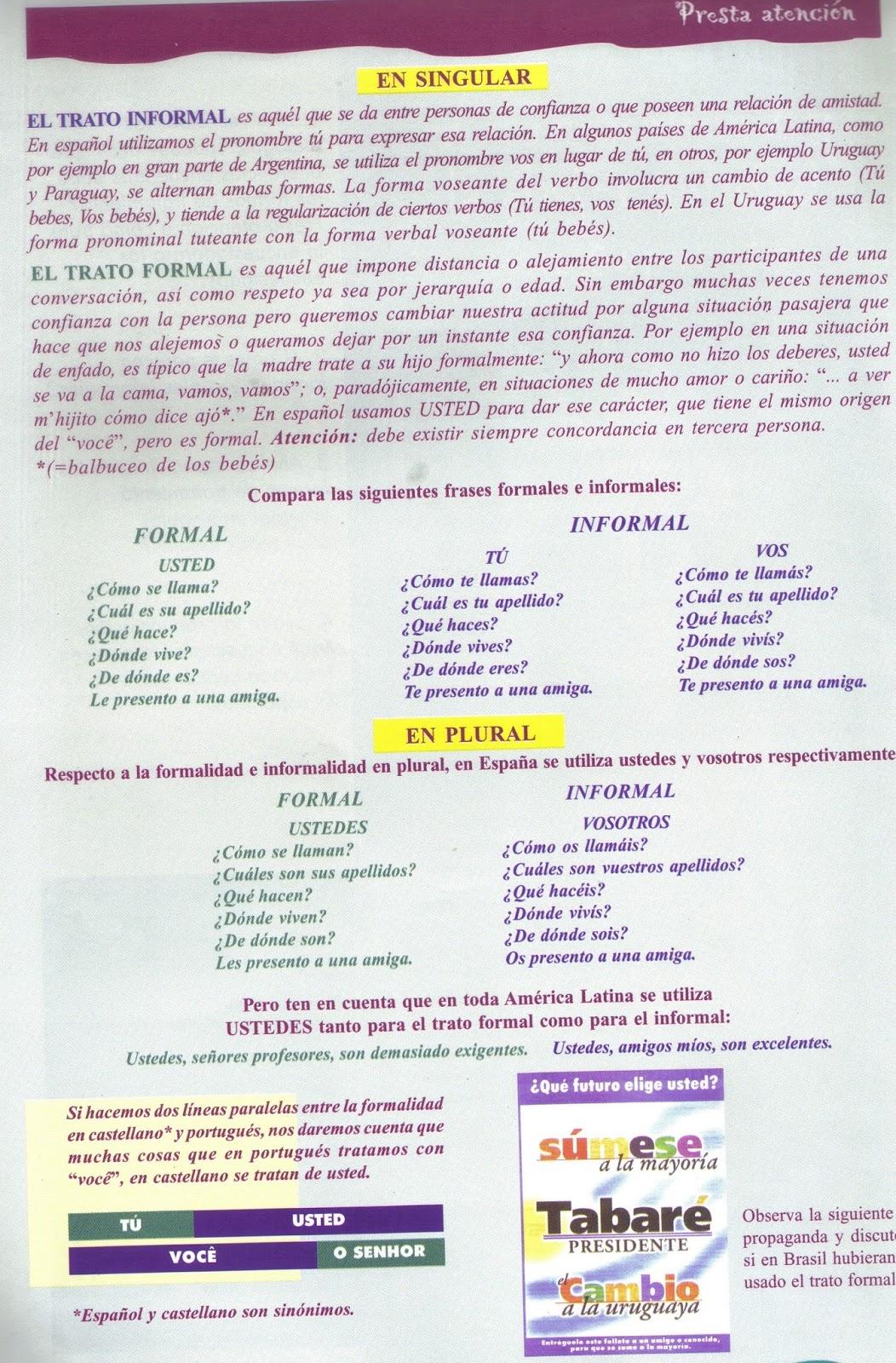 Ufu Pronatec Curso Fic Espanhol Básico 1 El Trato