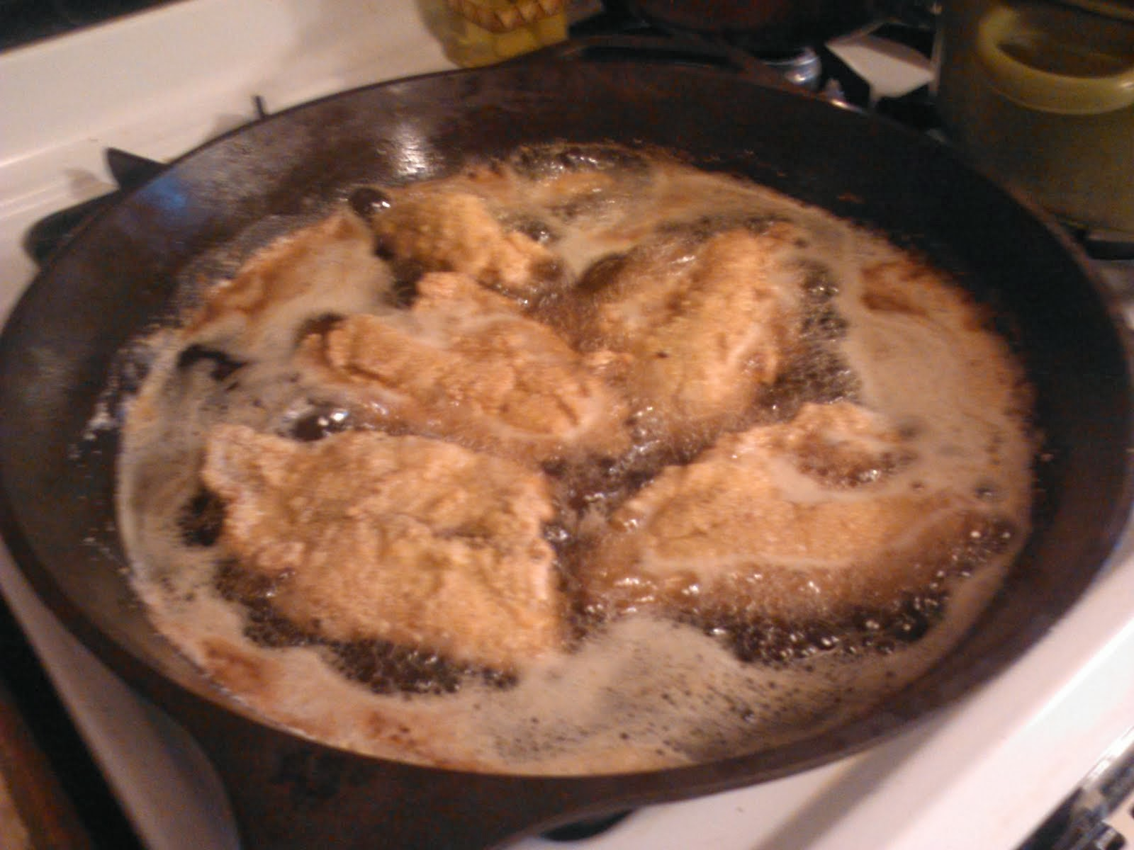 fish fry in the pan...yummo
