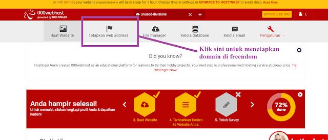 e Di Hosting Gratis 000webhost Dengan Domain Gratis Freendom