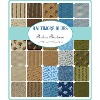 Moda Baltimore Blues Fabric by Barbara Brackman for Moda Fabrics