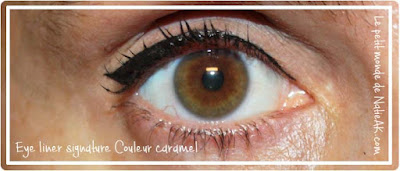 eye liner signature de Couleur caramel : rendu photo