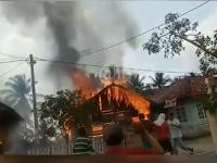 Kebakaran Gegerkan Warga Negara Batin Way Kanan