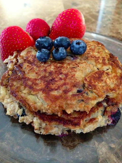 Oatmeal Blueberry Pancakes