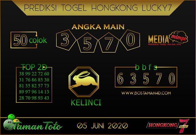 Prediksi Togel HONGKONG LUCKY 7 TAMAN TOTO 05 JUNI 2020