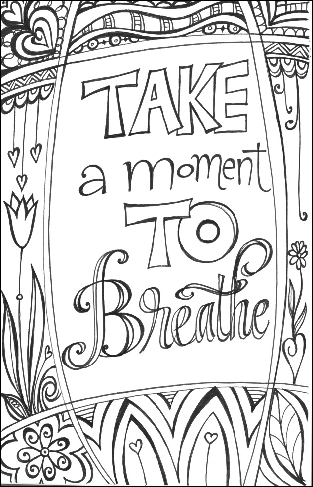 Free coloring pages round up for grown ups!