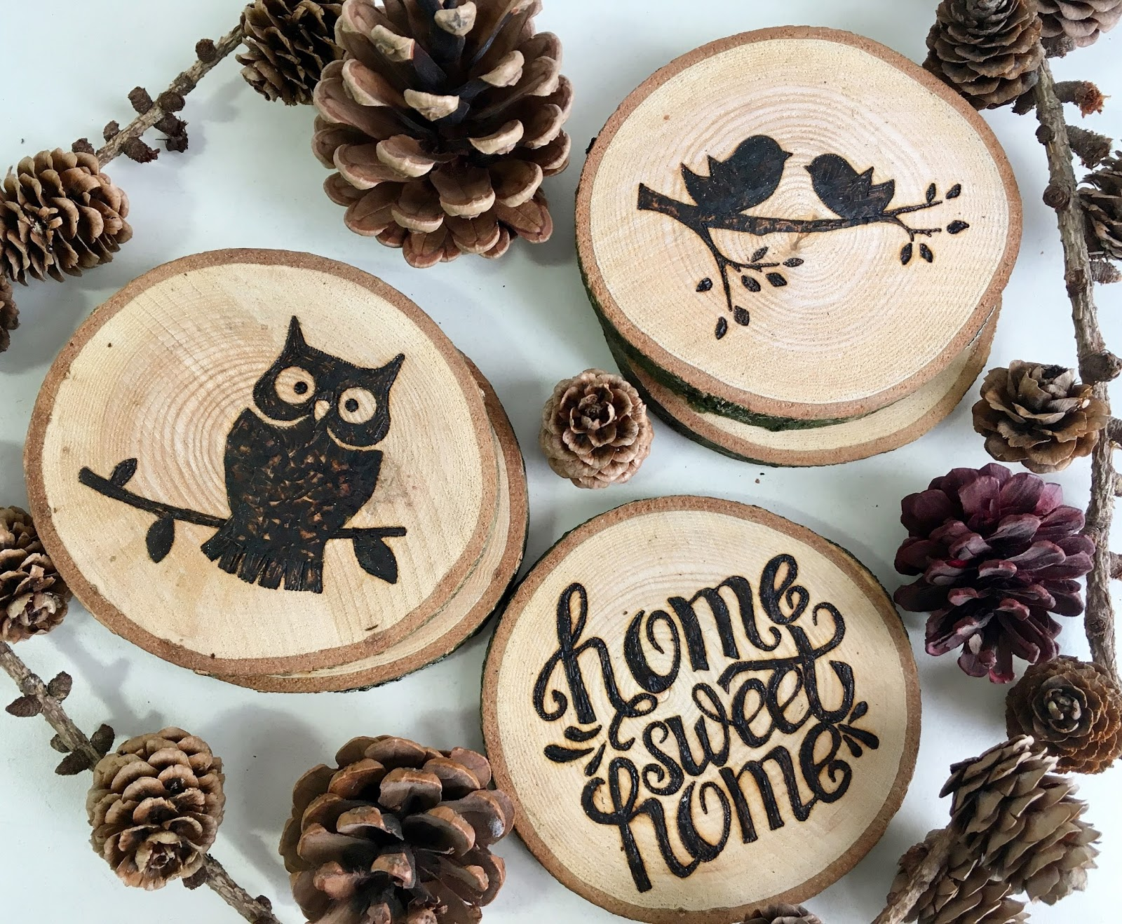 Melanie Rose Makes Diy Wood Burned Coasters