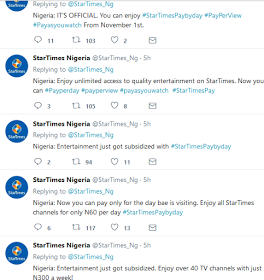 You Can Now Renew Startimes Subscription Pay Per Day, Week And Month
